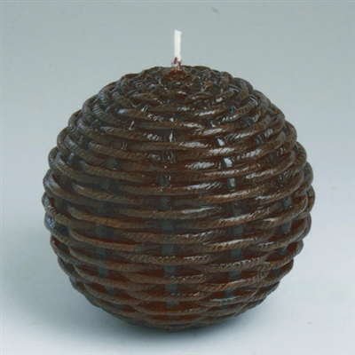 Tag Decorative Ball Candle Wicker (Brown) Set of 6