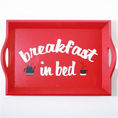 Tag Breakfast in Bed Wooden Tray (set of 2)