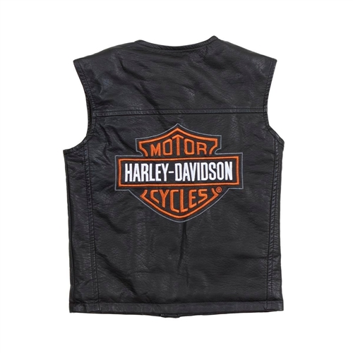 Harley-Davidson Kids Motorcycle Vest - Boys Biker - Leather Bound Online