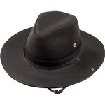 Black Leather Cowboy Hats - Henschel Leather Walker