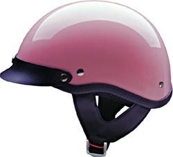 Ladies Pink Motorcycle Half Helmet