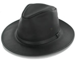 Henschel Hats - Mens Crushable Safari Leather Hat