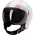 Motorcycle Helmets for Women - DOT Approved White & Pink