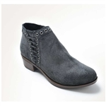 Minnetonka Charcoal Suede Boots: Vintage Brenna