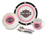 Harley-Davidson 5-Piece Baby Girls Dish Gift Set