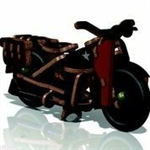 Harley-Davidson Gifts: Buildex Armed Forces Motorcycle