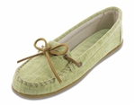 Lime Canvas Minnetonka Moccasins: Limited Edition