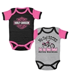 Harley-Davidson Baby Girl Dad & Mom Body Suit