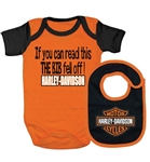 If you can read this the bib fell off Harley-Davidson baby