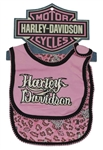 Harley-Davidson Baby Gift Set: Girl Bib and Burp Cloth