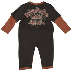 Harley Davidson Baby Boy Clothes Coverall Outfit