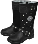 Harley-Davidson Motorcycle Boots - Girls Harness