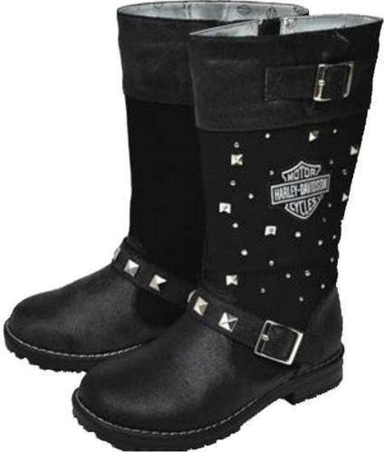 Harley Davidson Motorcycle Boots Girls Harness Leather