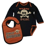 Harley-Davidson Baby Boy Clothing: One-Piece & Bib
