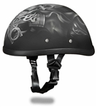 Premium Novelty Motorcycle Helmet: Piston Skulls