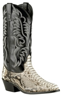 Laredo Genuine Python Snake Skin Amp Leather Men S Western Boots