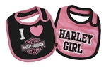 Harley-Davidson Baby Clothes: Girls Bib Gift Set