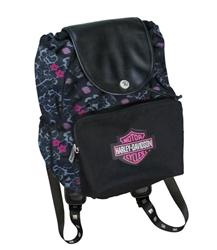 Harley Davidson Backpack Girls Floral Bag Leather