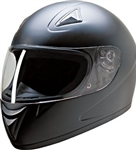 Full Face Motorcycle Helmets - Flat Black HCI-75