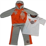 Harley-Davidson Boys Outfit - T-Shirt & Hoody