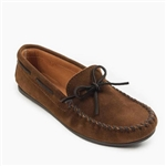 Men's Minnetonka Moccasin: Classic Brown Suede