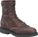 USA Made Work Boots - Double-H Men's Brown Lacer