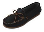 Black Leather Men's Minnetonka Moccasins