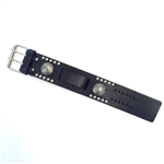 Biker Leather Watch Bands - Buffalo Nickels