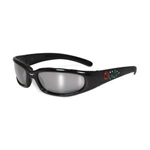 Women's Padded Motorcycle Glasses: Rhinestones
