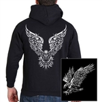 Biker Shirts: Tribal Eagle Hoody - Zip-Up
