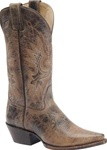 Women's Western Boots - Double-H Distressed Brown Leather