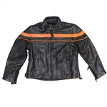 Leather Kids Motorcycle Jacket: Racer Style