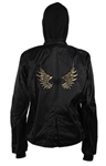 Women's Textile Jacket With Gold Wings