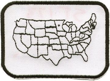 Motorcycle Patches United States Map Leather Bound Online