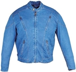 Men's Denim Motorcycle Jacket