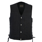 Black Denim Motorcycle Club Vest