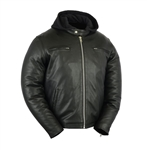 Sporty Cruiser Leather Motorcycle Jacket: Daniel Smart