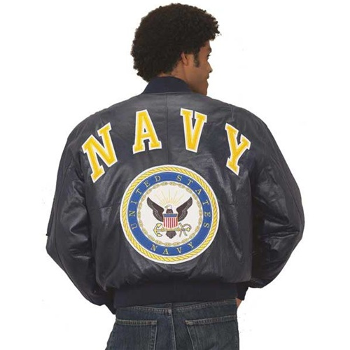 Excelled Mens US Navy Bomber Jacket - Leather Bound Online