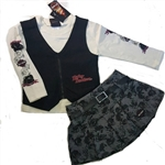 Harley-Davidson Girls Girl Clothes: Vest, Shirt, Skort