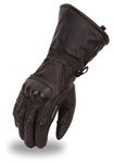 Waterproof Men's Leather Motorcycle Gloves - Knuckle Protection