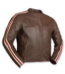 60's Racer Style Brown Leather Motorcycle Jackets