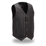 Buffalo Nickel Mens Motorcycle Vest With Gun Pockets