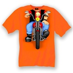 Toddler Motorcycle Apparel - Biker Body Orange T-Shirt