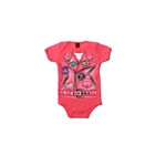 Baby Girl Biker Motorcycle Jacket Creeper Outfit
