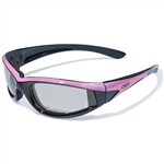 Transitional Women's Motorcycle Glasses - Pink