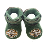 Harley-Davidson Baby Booties: 0-3M