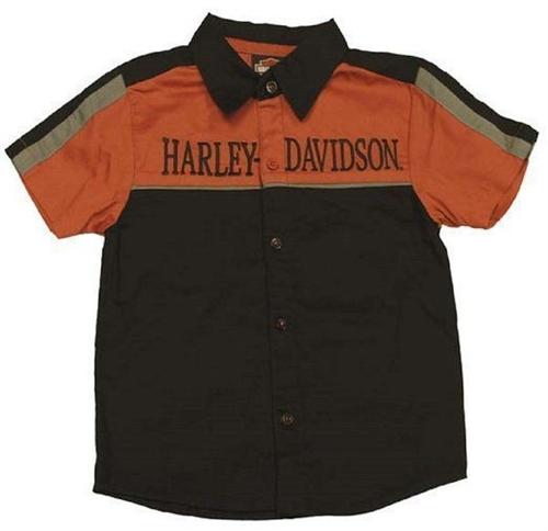 Harley davidson kids clothes boys bike shop shirt for Bike and cycle shoppe shirt