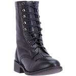 Laredo Women's Black Leather Combat Boots