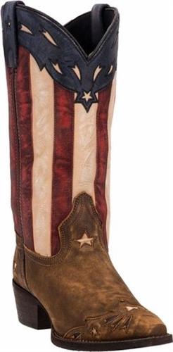 ladies laredo stars amp stripes usa flag leather western boots