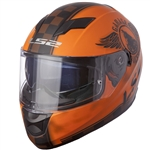 LS2 Stream Full Face Motorcycle Helmets: Orange
